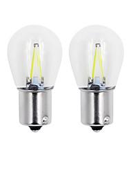 Недорогие -2pcs 1157 / 1156 Автомобиль / Мотоцикл Лампы 2W COB 150lm 2 Светодиодная лампа Лампа поворотного сигнала For Универсальный Дженерал Моторс