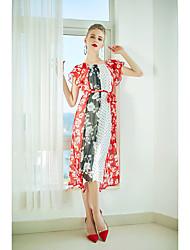 cheap -ZIYI Women's Going out Silk Shift Dress - Geometric