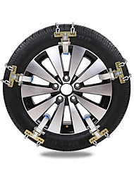 abordables -4pcs Coche Cadenas de nieve Común Tipo de hebilla For Llanta de carro For Universal Todos los modelos Todos los Años