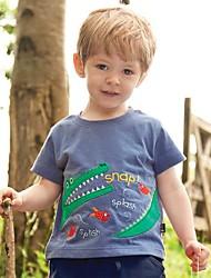 Недорогие -Дети / Дети (1-4 лет) Мальчики С принтом С короткими рукавами Футболка
