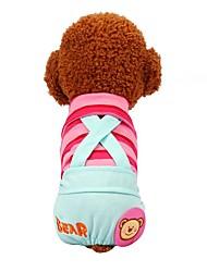 abordables -Perros / Gatos / Mascotas Pantalones Ropa para Perro A Rayas / Estampado / Refranes y citas Amarillo / Fucsia / Azul Algodón Disfraz Para