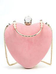 Недорогие -Жен. Мешки Бархат Вечерняя сумочка Кристаллы Красный / Розовый / Светло-серый