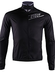 cheap -SPAKCT Men's Long Sleeve Cycling Jersey - Black Bike Reflective Strips / YKK Zipper / Italy Imported Ink / Breathable Armpits
