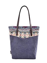 cheap -Women's Bags Canvas Tote Pattern / Print Blue / Beige