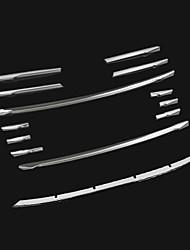 baratos -12pcs Carro Decoração da grade dianteira do carro Negócio Tipo de pasta For Grade dianteira do carro For Audi A3 2016 / 2015 / 2014