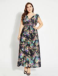 abordables -Mujer Básico Boho Kaftan Vestido Un Color Maxi