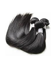 economico -Brasiliano / Bundles Liscio Capello vergine / Capello integro Extension di capelli umani 3 pacchetti Tessiture capelli umani Nuovo arrivo / vendita calda / Per donne di colore Nero Naturale