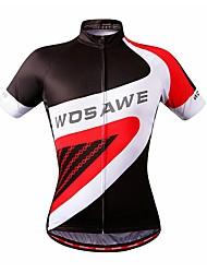 baratos -WOSAWE Homens Manga Curta Camisa para Ciclismo - Vermelho Esqueleto Moto Camisa / Roupas Para Esporte, Bolso Traseiro, Verão, Terylene / Com Stretch / Redutor de Suor