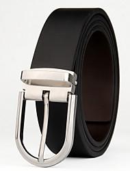 cheap -Men's Active Basic Leather Waist Belt