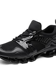 abordables -Homme Chaussures de confort Tricot / Tissu élastique Automne Sportif / Décontracté Chaussures d'Athlétisme Course à Pied Massage Noir / Gris