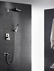 abordables -Robinet de douche - Moderne Chrome Montage mural Soupape céramique