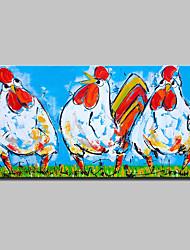 baratos -Pintura a Óleo Pintados à mão - Abstrato Arte Pop Modern Tela de pintura