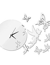 abordables -Moderne / Contemporain PVC / Vinyl Fibre naturelle Créatif Intérieur,5W Horloge artisanale