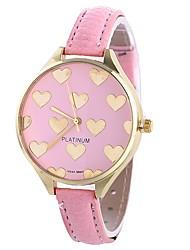 Недорогие -Xu™ Жен. Наручные часы Китайский Повседневные часы PU Группа Heart Shape / Творчество Черный / Белый / Розовый / Один год