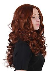 Недорогие -Парики из искусственных волос Волнистый Средняя часть Искусственные волосы Природные волосы Коричневый Парик Жен. Длинные Без шапочки-основы