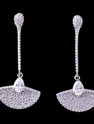cheap -Women's Cubic Zirconia Stud Earrings / Drop Earrings - Shell Fashion, Elegant White For Wedding / Engagement