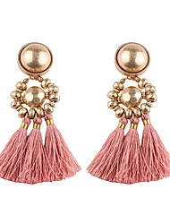 cheap -Tassel Drop Earrings - Tassel, European Light Green / Champagne / skin For Daily / Street