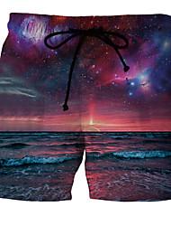 Недорогие -Муж. Пурпурный Плавки-боксеры Трусики, шорты и т.д. Купальники - Радужный 4XL XXXXXL XXXXXXL