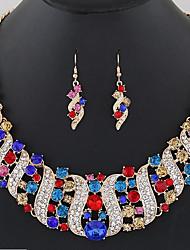 abordables -Femme Colliers plastrons Ensemble de bijoux - Large, Bohème Comprendre Boucles d'oreille goutte / Collier plastron Arc-en-ciel / Rouge / Bleu Pour Cérémonie / Carnaval
