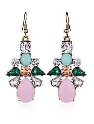 cheap -Crystal Long Drop Earrings - Drop, Flower Sweet, Fashion, Elegant Rainbow For Wedding / Party / Evening