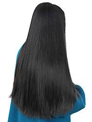 baratos -Não processado Cabelo Humano Peruca Cabelo Brasileiro Liso Parte lateral 250% Densidade Com Baby Hair Não processado Riscas Naturais
