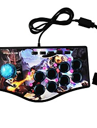 abordables -NJP308 Con Cable Controladores de juego Para Sony PS3 / PC / Sony PS2 ,  Controladores de juego ABS 1 pcs unidad