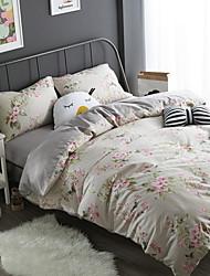 cheap -Duvet Cover Sets Floral 100% Cotton Reactive Print 4 Piece