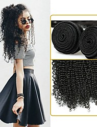 cheap -Brazilian Hair / Kinky Curly Curly Human Hair Weaves 50g x 4 Soft / Comfy / 100% Virgin One Pack Solution Women's Christmas Gifts /