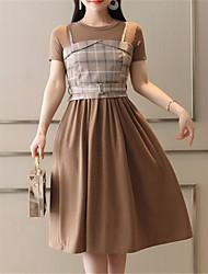 cheap -Women's Shirt - Solid Colored Dress