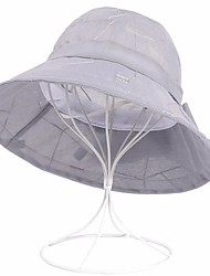 abordables -Femme Polyester Vacances Bob Chapeau de soleil - Maille, Couleur Pleine