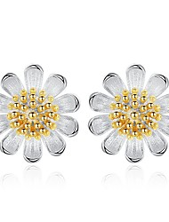 cheap -Stud Earrings - Flower Basic, Fashion Silver / Yellow For Daily / Date
