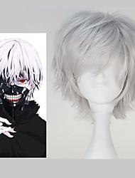 economico -Parrucche Cosplay Tokyo Ghoul Ken Kaneki Anime Parrucche Cosplay 32 CM Tessuno resistente a calore Per uomo