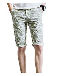 abordables -Hombre Tallas Grandes Shorts Pantalones - Geométrico Estampado