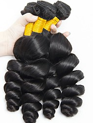 cheap -Indian Hair Wavy Natural Color Hair Weaves / Human Hair Extensions 6 Bundles 8-28 inch Human Hair Weaves Capless Fashionable Design / Best Quality / Hot Sale Natural Black Human Hair Extensions