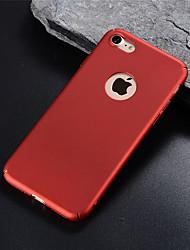 Недорогие -Кейс для Назначение Apple iPhone X / iPhone 8 Pluss / iPhone 8 Матовое Кейс на заднюю панель Однотонный Твердый ПК