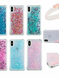 cheap -Case For Apple iPhone X / iPhone 6 Shockproof / Flowing Liquid / Glitter Shine Back Cover Solid Colored / Glitter Shine Soft TPU for