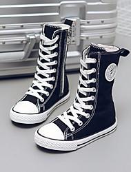 preiswerte -Mädchen Schuhe Leinwand Frühling & Herbst Komfort Sneakers für Weiß / Schwarz / Rot