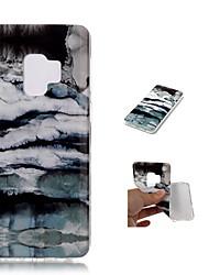baratos -Capinha Para Samsung Galaxy S9 Plus / S9 / A8 2018 Estampada Capa traseira Mármore Macia TPU para S9 / S9 Plus / A8 2018