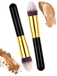abordables -2 Pinceaux à maquillage Professionnel Pinceau à Blush / Pinceau Correcteur / Pinceau Poudre Pinceau en Nylon / Poil Synthétique Economique / Professionnel / Doux Bois / Métallique