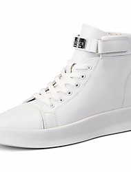 cheap -Men's Bootie PU(Polyurethane) Spring Boots Booties / Ankle Boots White / Black / Red
