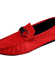 cheap -Men's Moccasin Rubber Summer Oxfords Black / Gray / Red / Comfort Loafers