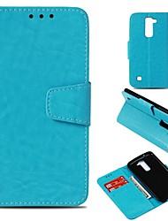 Недорогие -Кейс для Назначение LG V30 / K10 (2017) Кошелек / Бумажник для карт / Магнитный Чехол Однотонный Твердый Искусственная кожа для LG X Style / LG V30 / LG V20