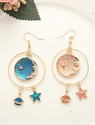 cheap -Mismatched Drop Earrings - Moon, Star, Galaxy Sweet, Fashion Blue For Daily