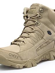 billiga -Herr Komfortskor Filt / PU Höst Sportig Stövlar Vandring / Promenad Korta stövlar / ankelstövlar Khaki grön / Utomhus / Fashion Boots / Desert Boots