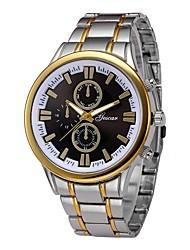 Недорогие -Муж. Наручные часы Китайский Секундомер / Крупный циферблат Нержавеющая сталь Группа Роскошь / Мода Серебристый металл / SSUO LR626