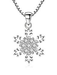 preiswerte -Kubikzirkonia Anhängerketten - Süß, Modisch Silber 45 cm Modische Halsketten Für Party, Alltag
