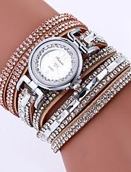 abordables -Femme Bracelet de Montre Chinois Imitation de diamant / Montre Décontractée Polyuréthane Bande Bohème / Mode Noir / Blanc / Bleu