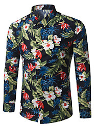 cheap -Men's Business / Boho Shirt - Floral