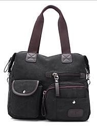 cheap -Women's Bags Canvas Tote Zipper Coffee / Dark Red / Khaki