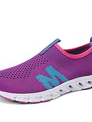 economico -Per donna Scarpe Tulle Estate Comoda scarpe da ginnastica Corsa / Ginnastica / Footing Piatto Punta chiusa Fucsia / Blu / Rosa